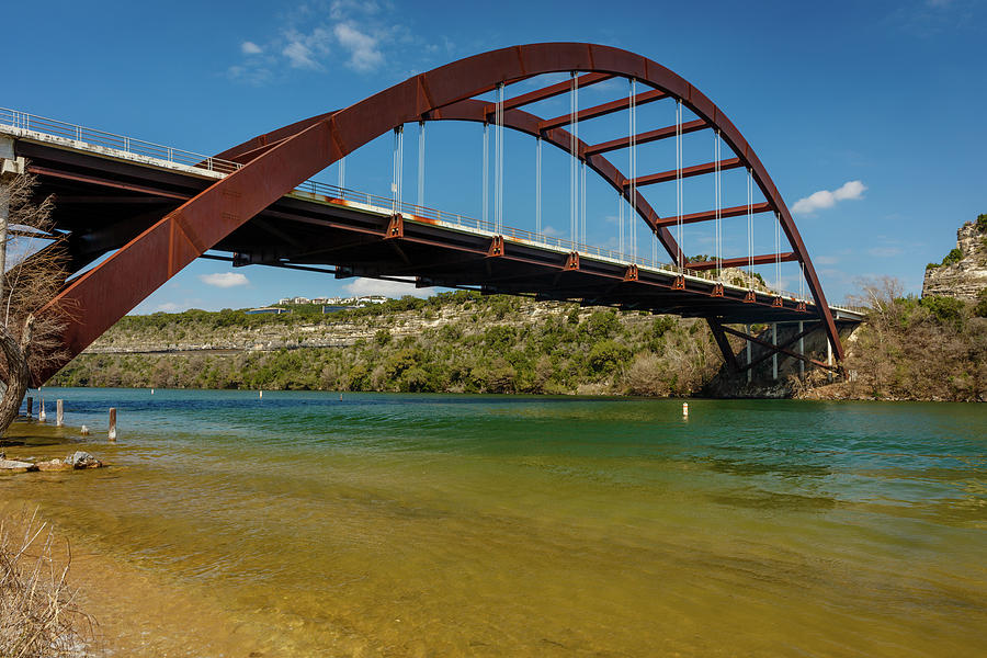 Horizontal Photograph - Pennybacker 360 Bridge, Austin, Texas by Panoramic Images