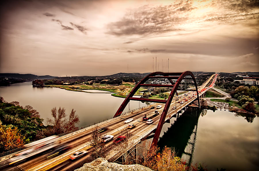 Pennybacker Bridge Sunset by John Maffei
