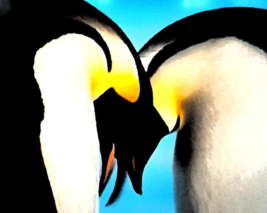 Colette Painting - Penquin Love Dance by Colette V Hera  Guggenheim
