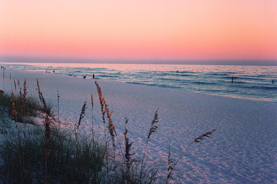 Pensacola Beach Fl Sunset Photograph By Chuck Johnson