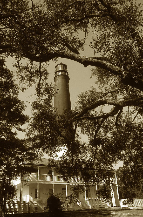 Lighthouse Photograph - Pensacola Lighthouse by Skip Willits