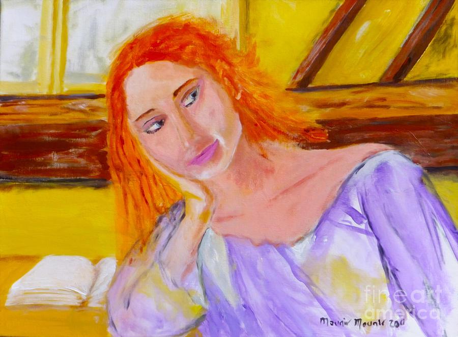 Portrait Painting - Pensando En Ti by Mounir Mounir