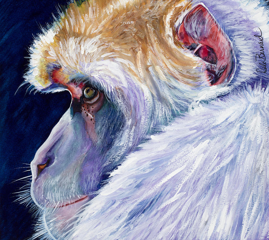 Monkey Painting - Pensive by Dale Bernard