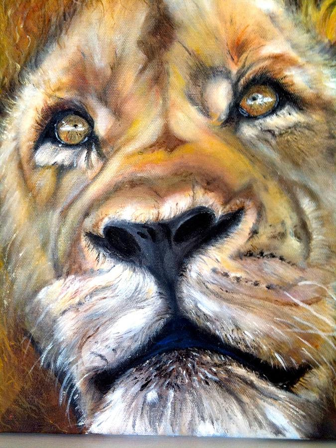 Animals Painting - Pensive by Harlene Bernstein