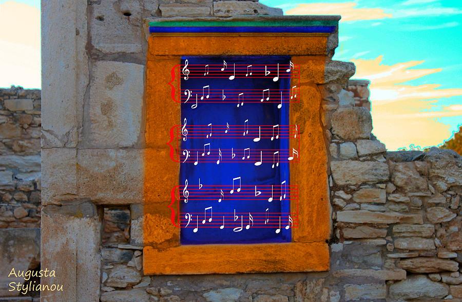Artist Photograph - Pentagram Window At Apollo by Augusta Stylianou
