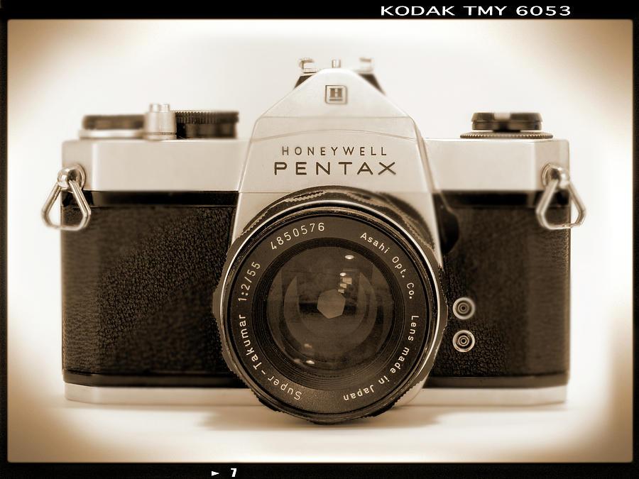 Pentax Honeywell Photograph - Pentax Spotmatic IIa Camera by Mike McGlothlen