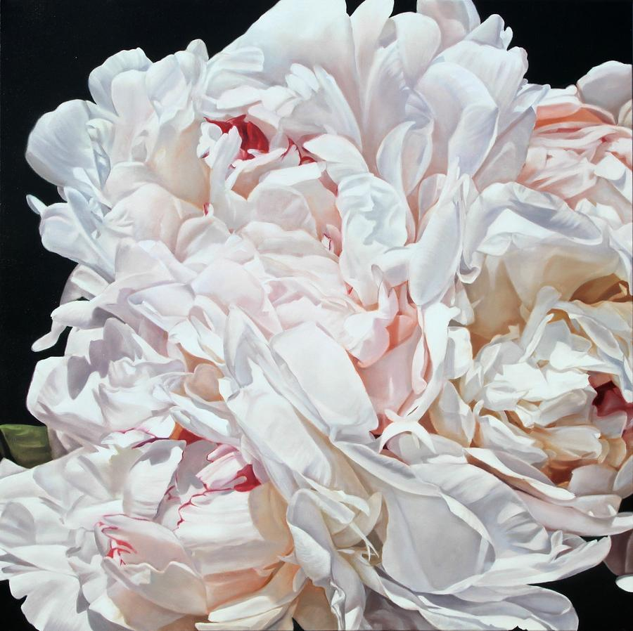 Peonies 100 X 100 Cm 2012 Painting by Thomas Darnell