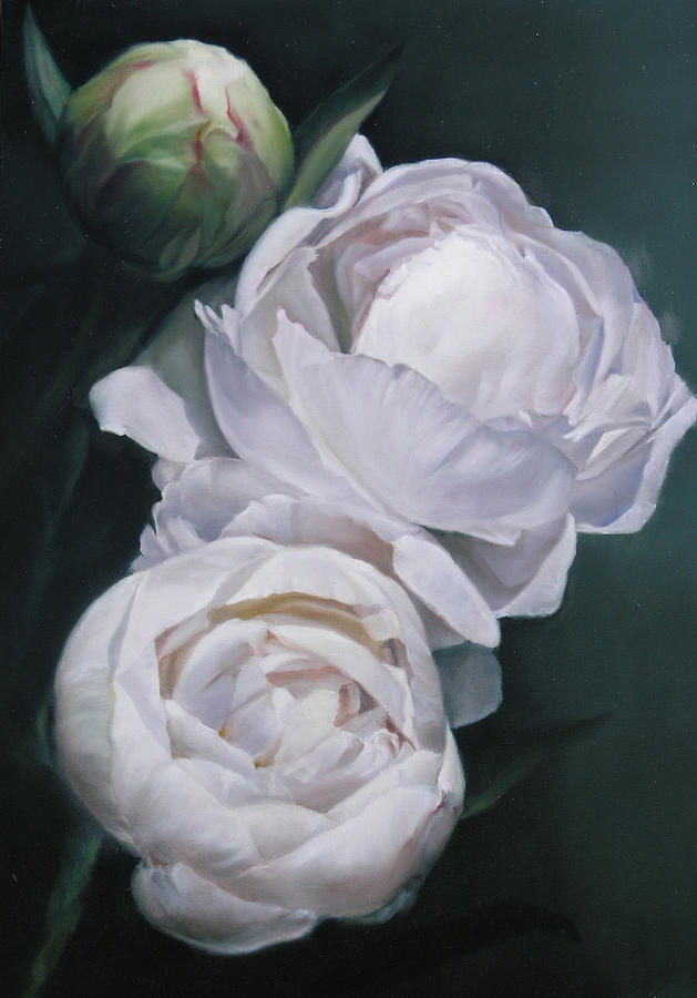 Flowers Painting - Peonies 21 X 3 by Thomas Darnell