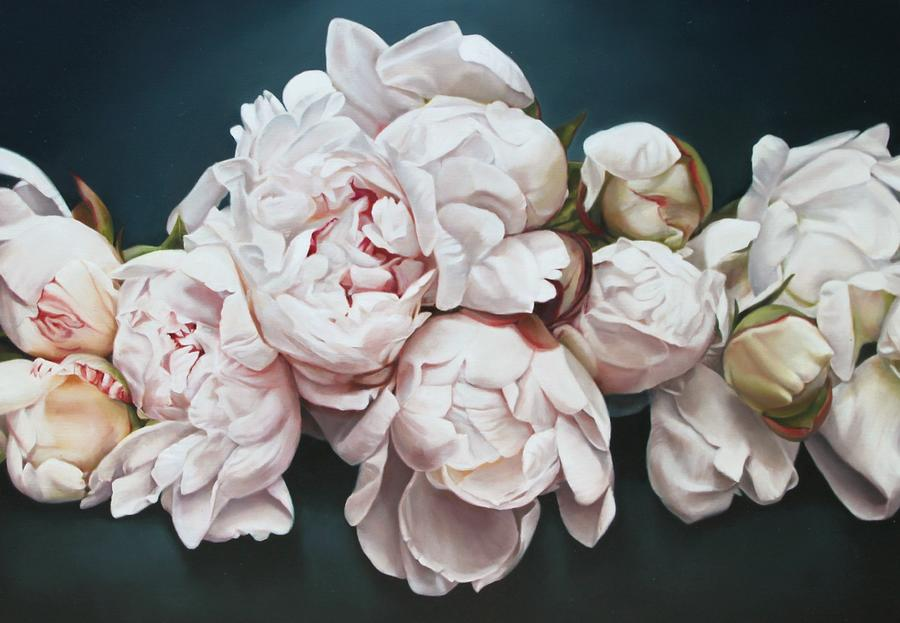 Peonies 3 Painting by Thomas Darnell