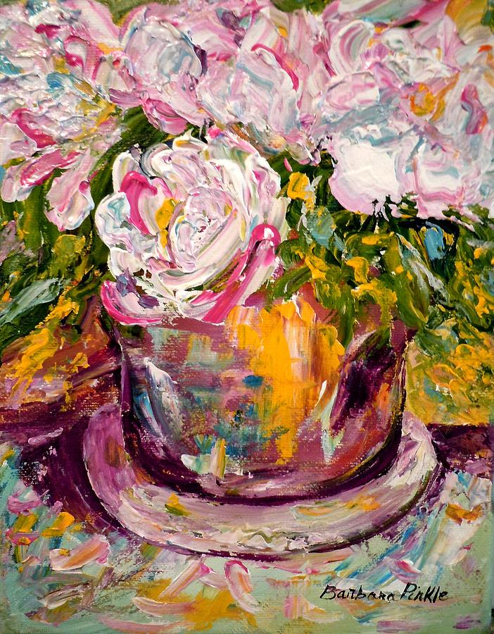 Still-life Painting - Peonies by Barbara Pirkle