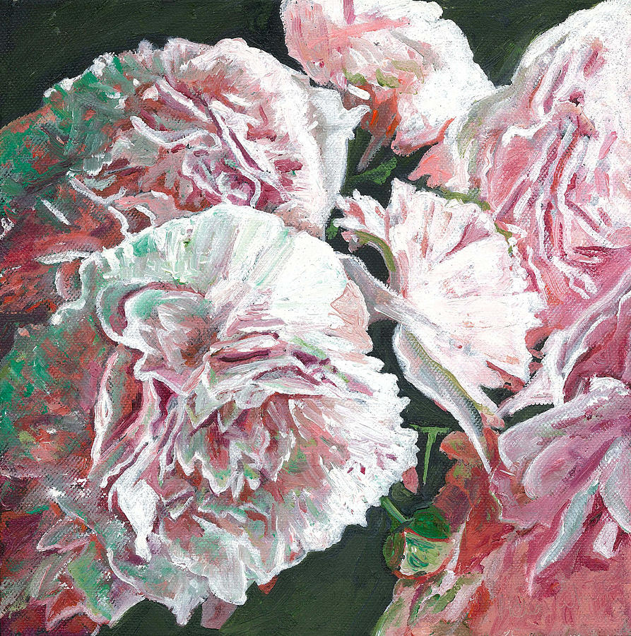 Peonies Painting - Peonies by Helen White