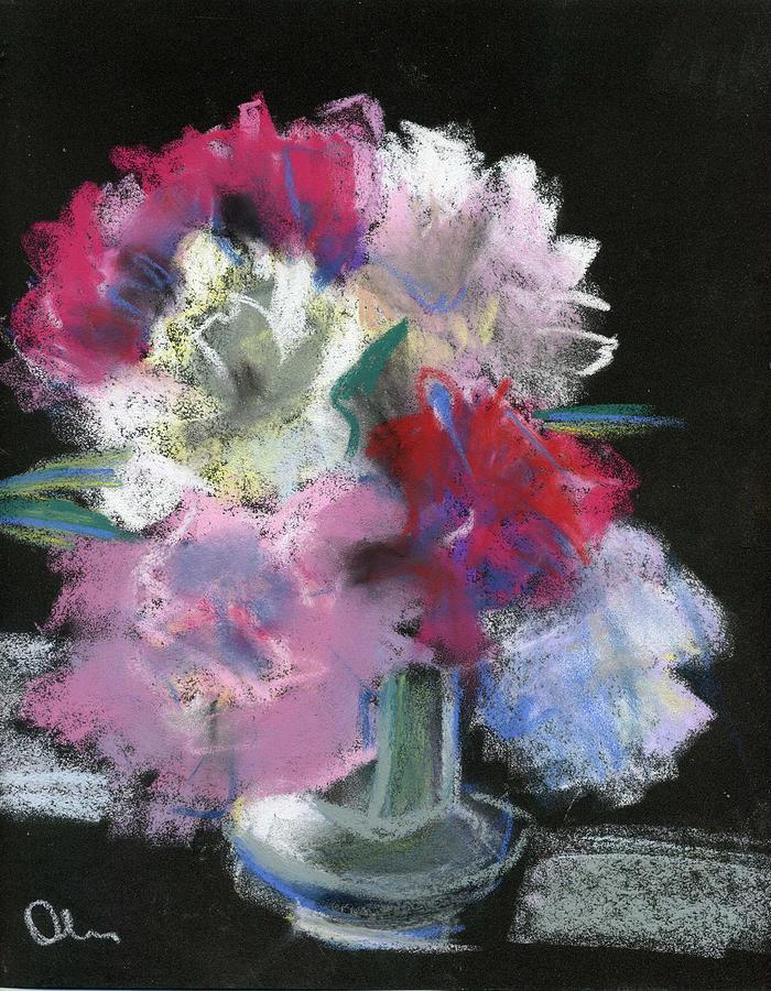 Flowers Pastel - Peonies by Lelia Sorokina