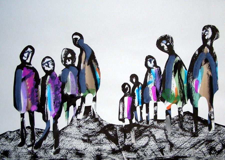 Harie Drawing - People 120913-3 by Aquira Kusume