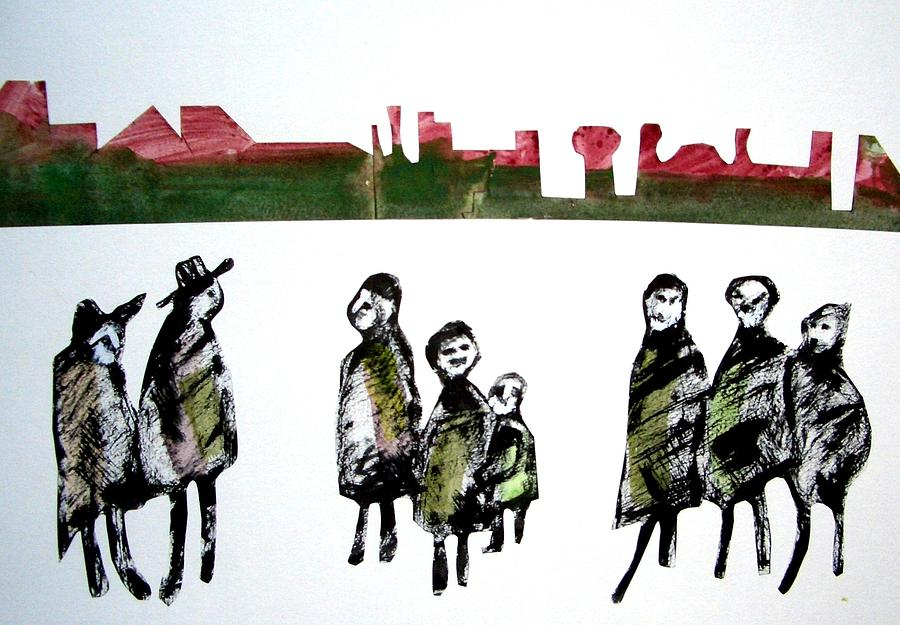 Harie Drawing - People 120913-5 by Aquira Kusume