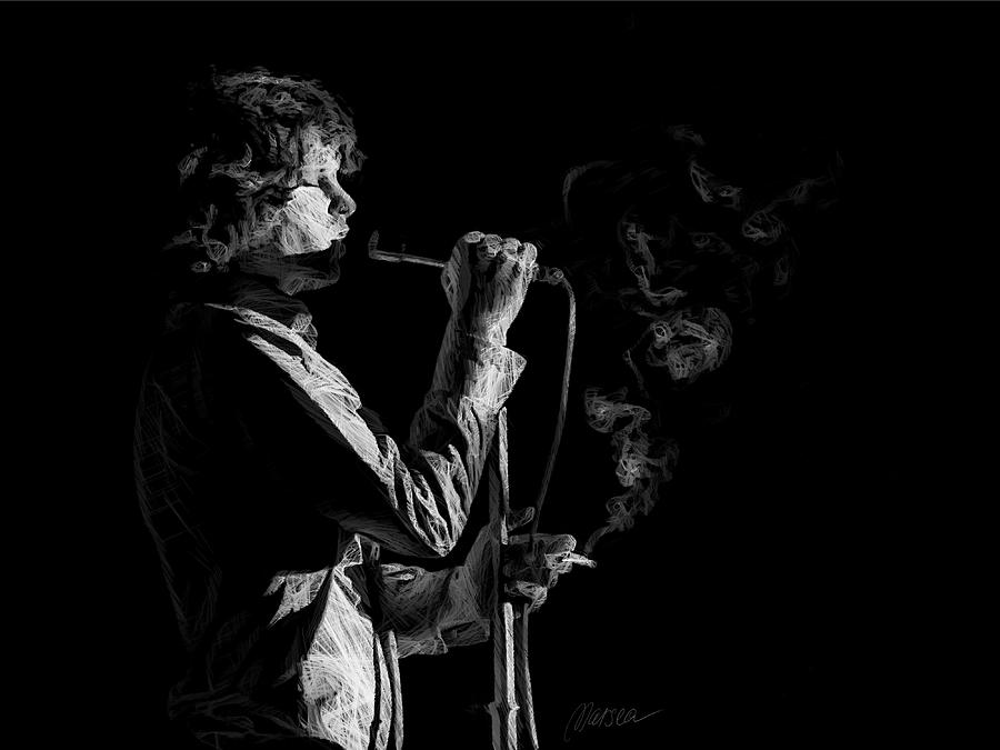 Jim Morrison Drawing - People Are Strange by Marina Likholat