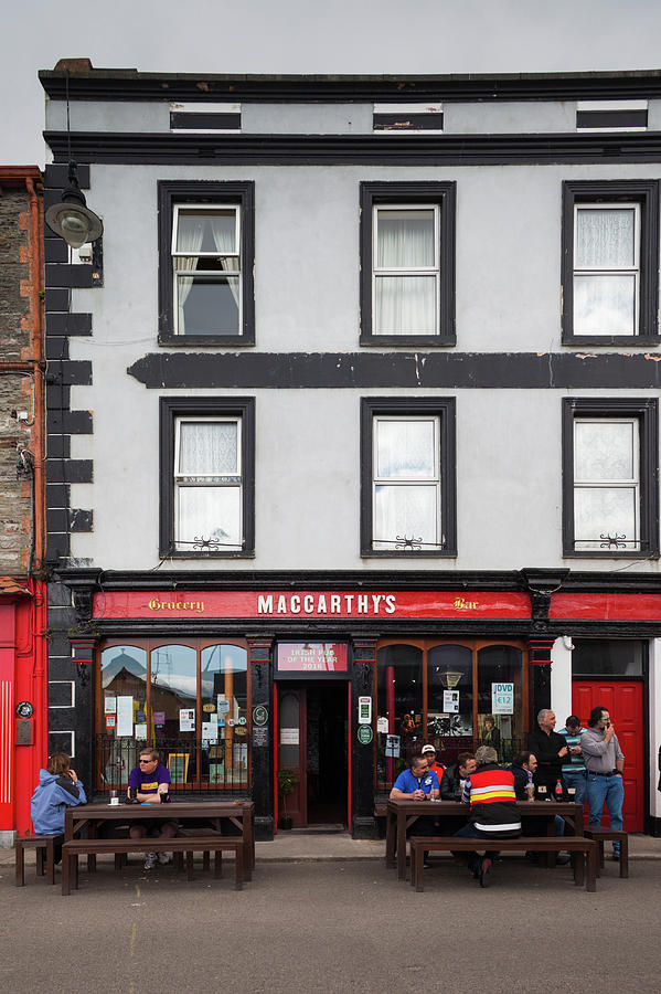 Vertical Photograph - People At A Restaurant, Mccarthys Bar by Panoramic Images