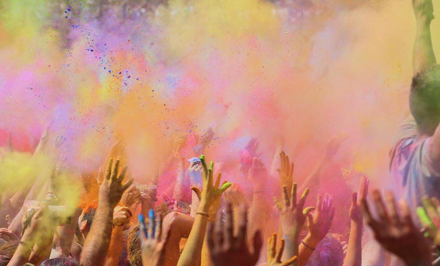People Celebrating The Holi Festival In Photograph by Artur Debat