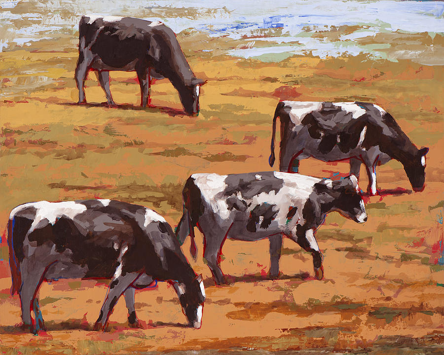 Cow Painting - People Like Cows #10 by David Palmer