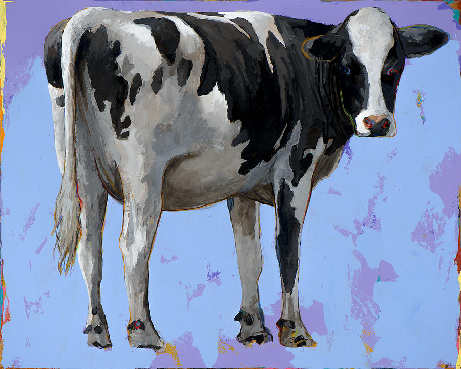 Cow Painting - People Like Cows #11 by David Palmer