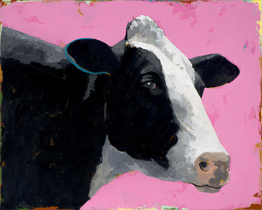 Cow Painting - People Like Cows #13 by David Palmer