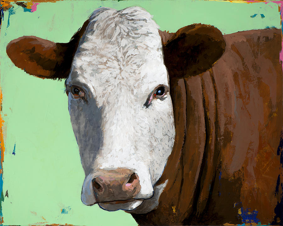 Cow Painting - People Like Cows #14 by David Palmer