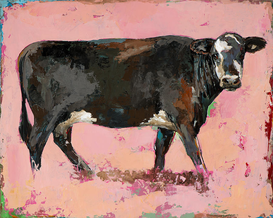 Cow Painting - People Like Cows #2 by David Palmer