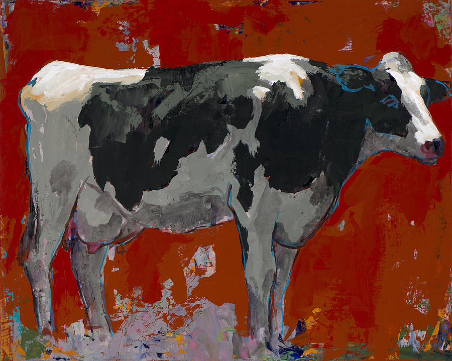 Cow Painting - People Like Cows #3 by David Palmer