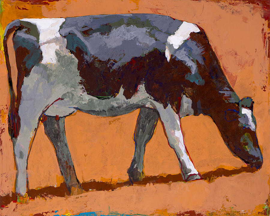 Cow Painting - People Like Cows #4 by David Palmer