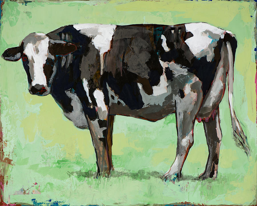Cow Painting - People Like Cows #5 by David Palmer