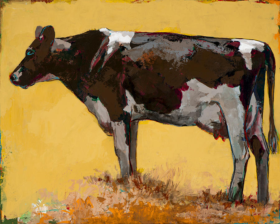 Cow Painting - People Like Cows #6 by David Palmer