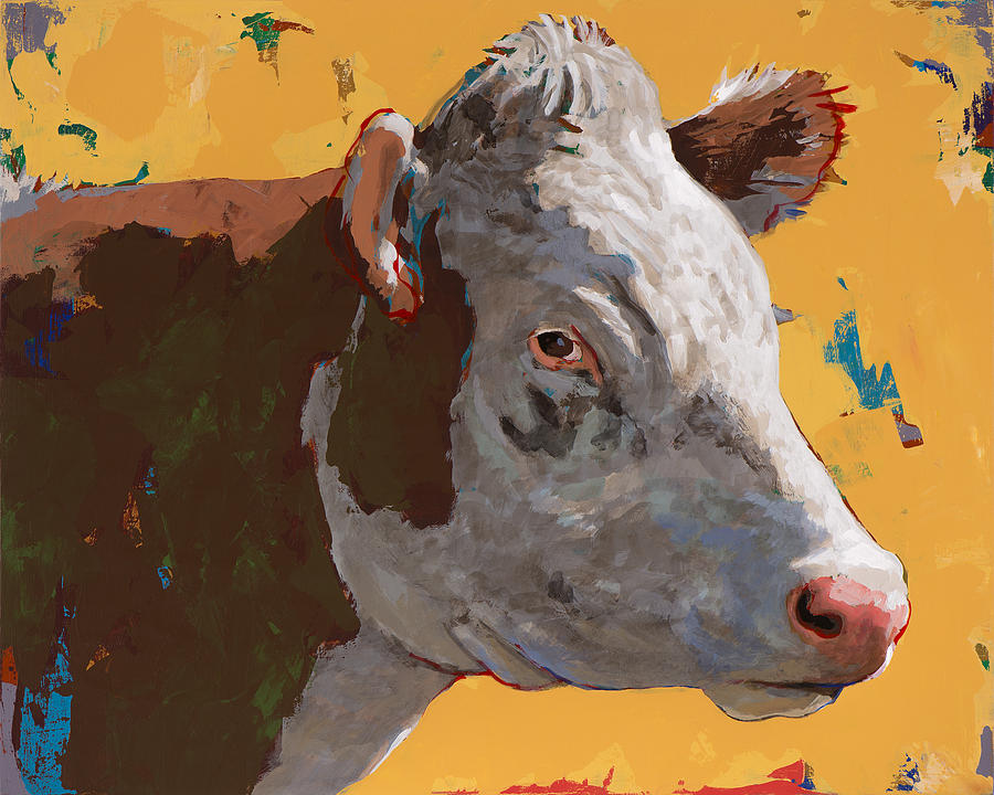 Cow Painting - People Like Cows #7 by David Palmer