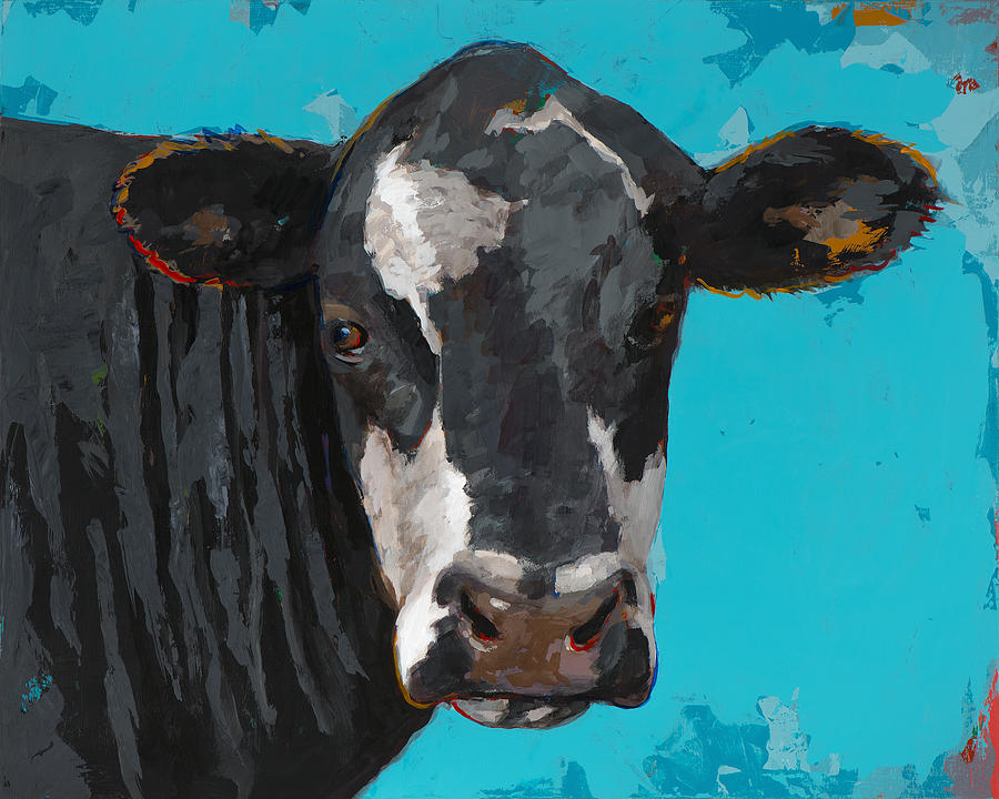 Cows Painting - People Like Cows #8 by David Palmer
