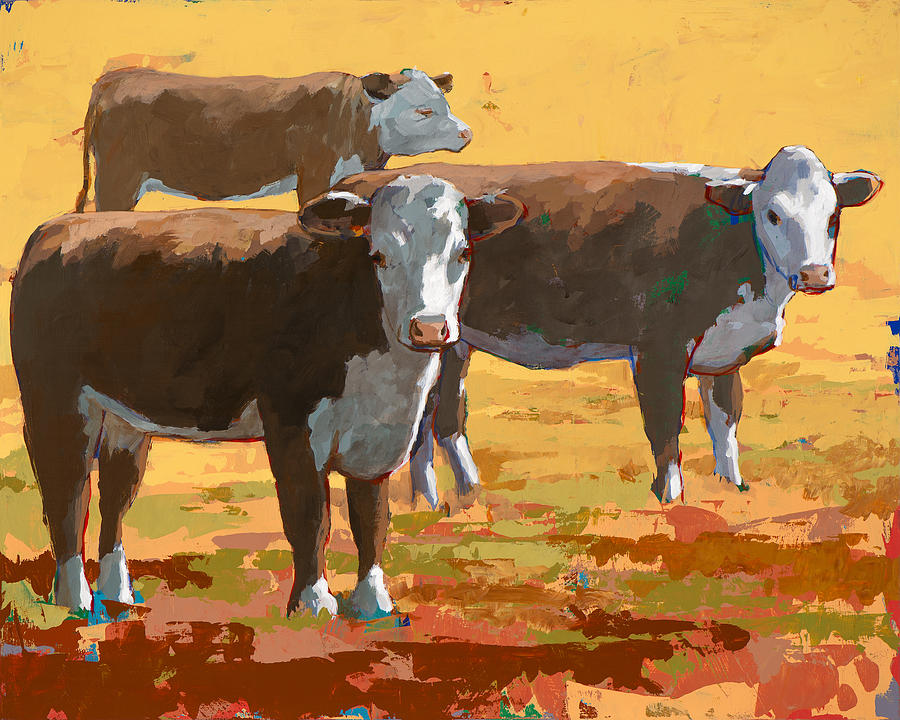 Cow Painting - People Like Cows #9 by David Palmer