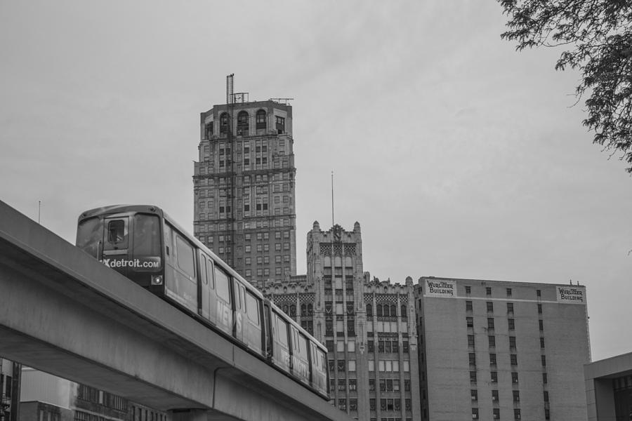 Detroit Photograph - People Mover Downtown Detroit by John McGraw