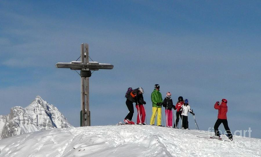 Winter Photograph - People Skiing In Austria by Regina Siebrecht