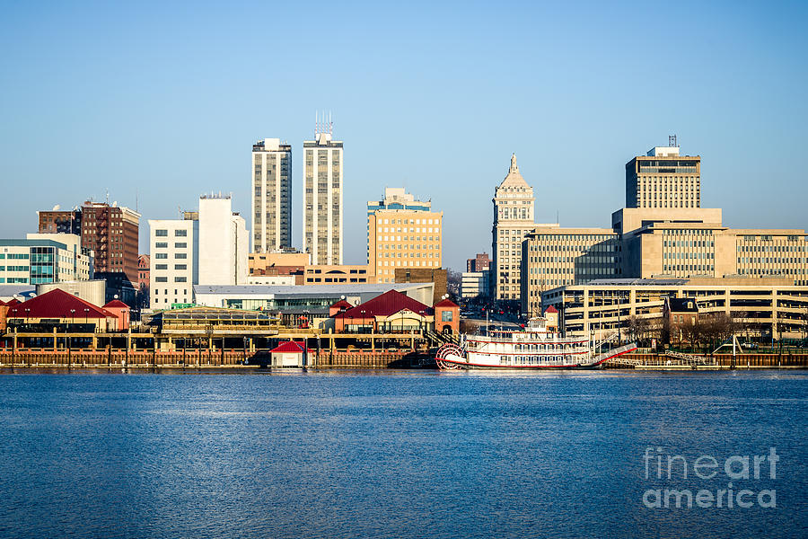 America Photograph - Peoria Skyline And Downtown City Buildings by Paul Velgos