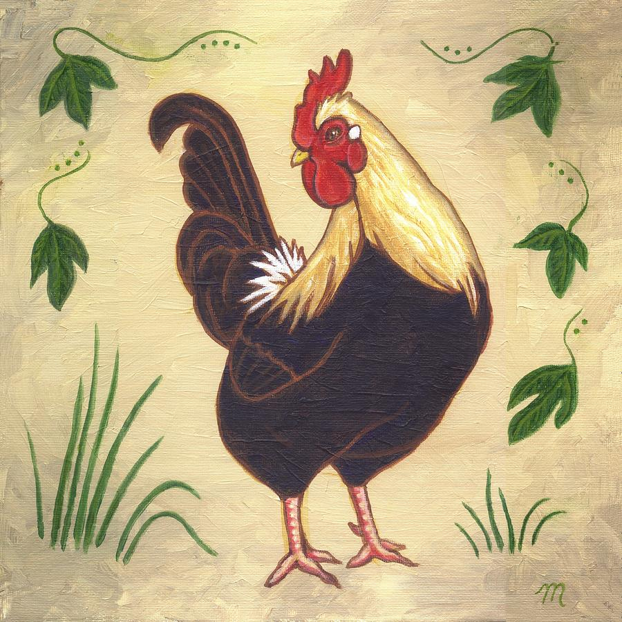 Rooster Painting - Pepper The Rooster by Linda Mears