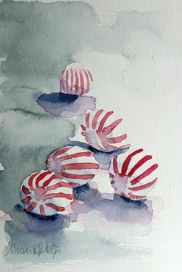 Peppermint Painting - Peppermints by Marisa Gabetta