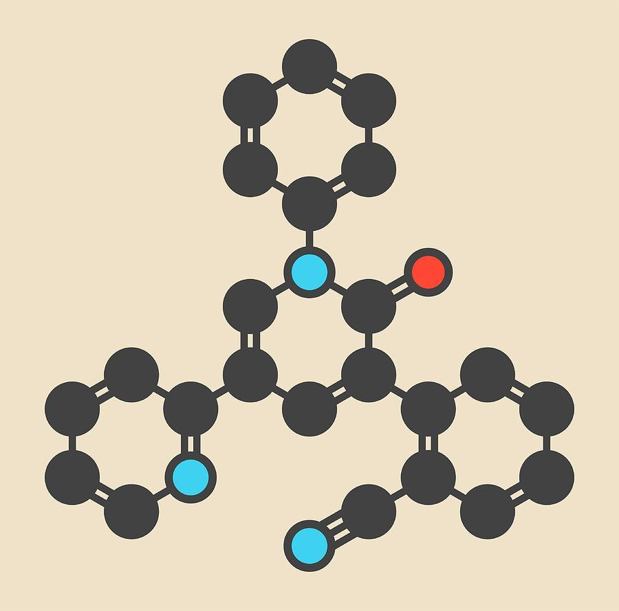 Antiepileptic Photograph - Perampanel Epilepsy Drug Molecule by Molekuul
