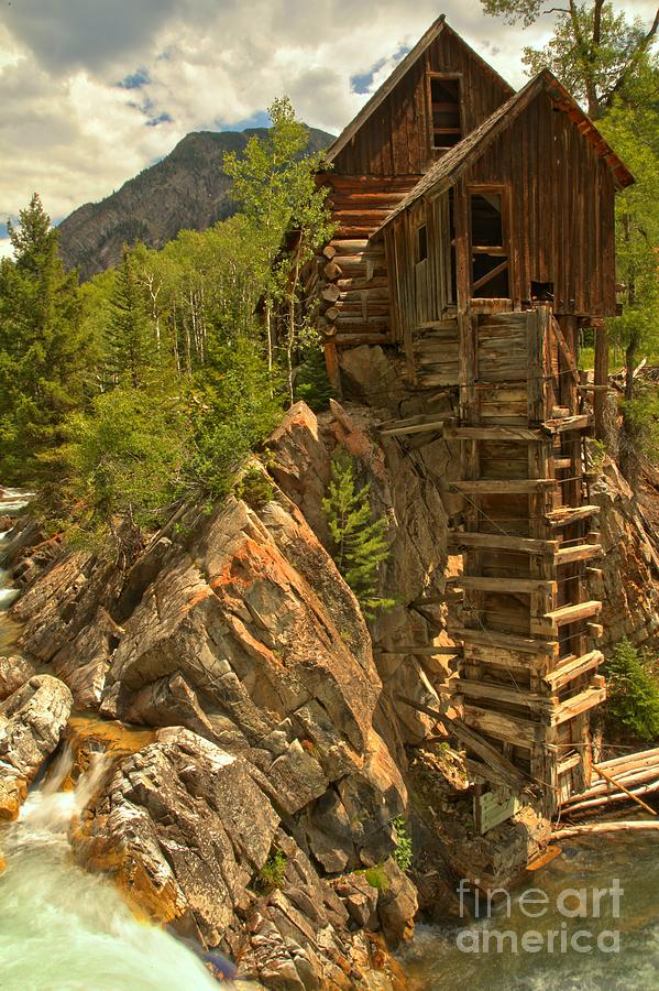 Crystal Colorado Photograph - Perched On The Edge by Adam Jewell