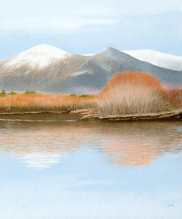 Landscape Pastel - Percy Peaks by Bruce Richardson