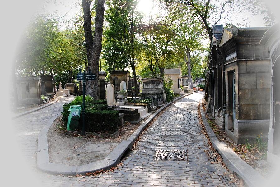 Paris Photograph - Pere Lachaise Cemetery Paris by Jacqueline M Lewis