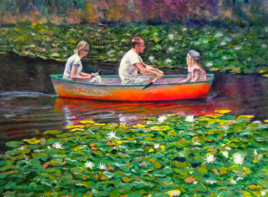 Water Lily Painting - Perfect Afternoon by Michael Durst
