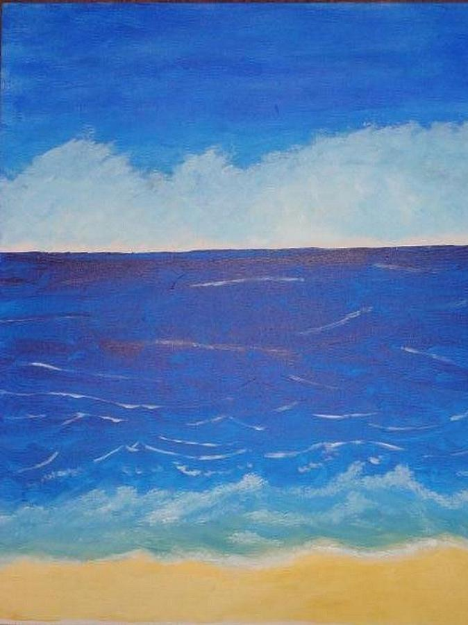 Waves Painting - Perfect Day At The Beach by Valerie Howell