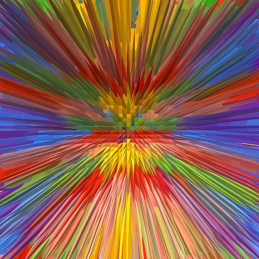 Canvas Prints Mixed Media - Perfect Rainbow Skyview Horizon Spectrum Sky View Graphic Extrude Art Background Designs  And Color  by Navin Joshi