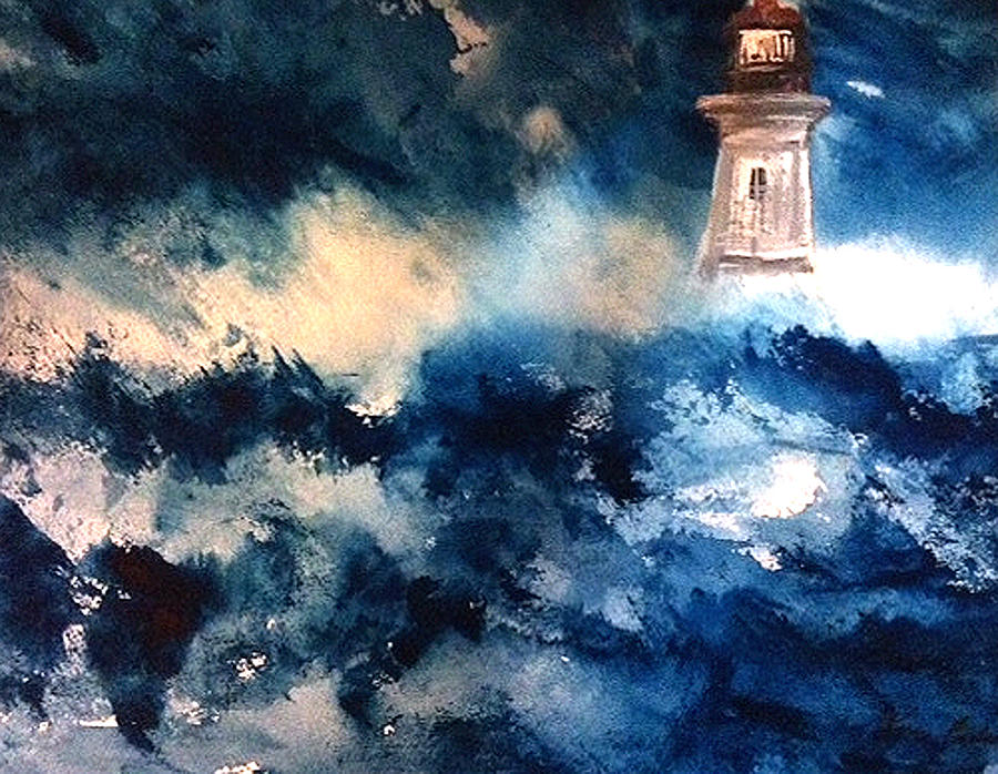 Perfect Storm Painting by Karen  Condron