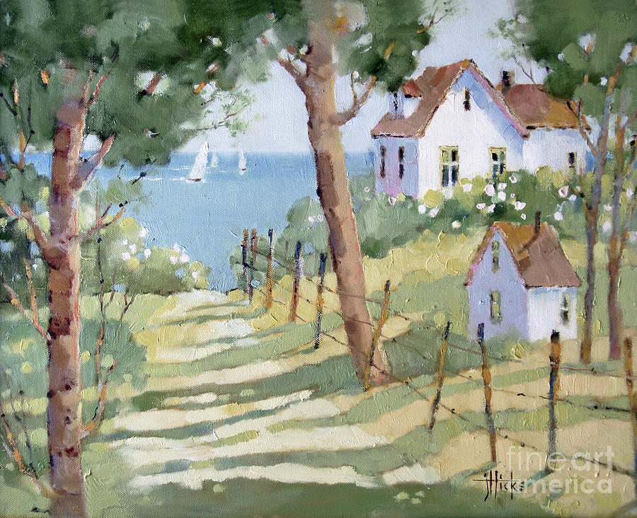 Nantucket Painting - Perfectly Peaceful Nantucket by Joyce Hicks