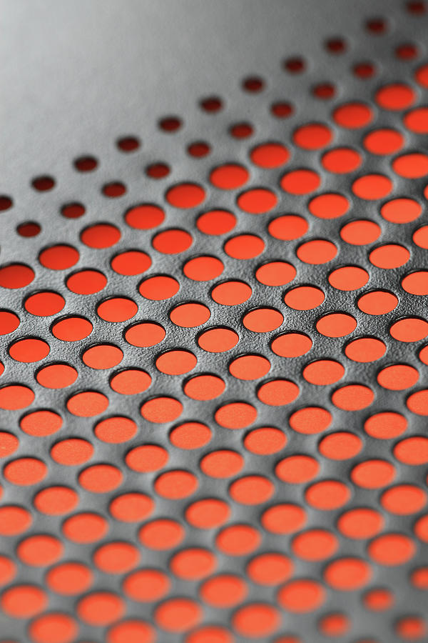 Perforated Metal Background Photograph by Real444