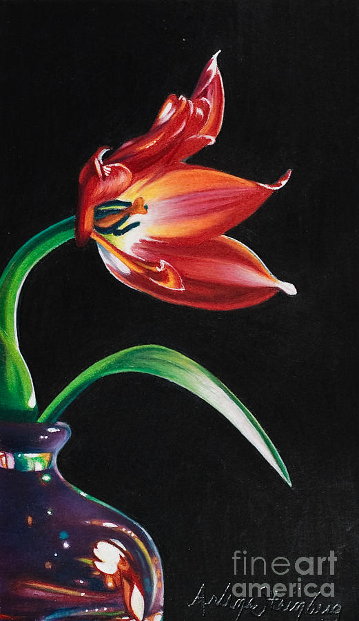 Colored Pencil Painting - Perfumed Brilliance by Arlene Steinberg