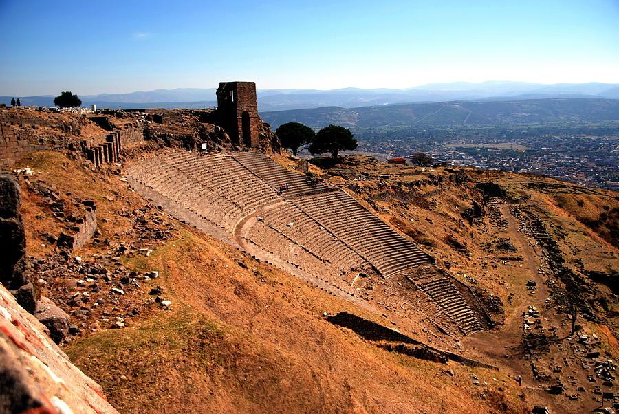 Pergamum Photograph - Pergamum - Theatre by Jacqueline M Lewis